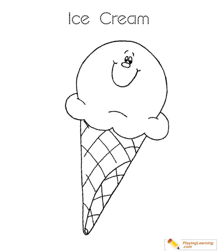 Ice Cream Cone Coloring Page 08 Free Ice Cream Cone Coloring Page