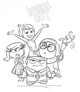 Inside Out Movie Characters Coloring Pages Playing Learning