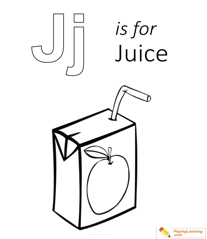 J Is For Juice Coloring Page | Free J Is For Juice Coloring Page