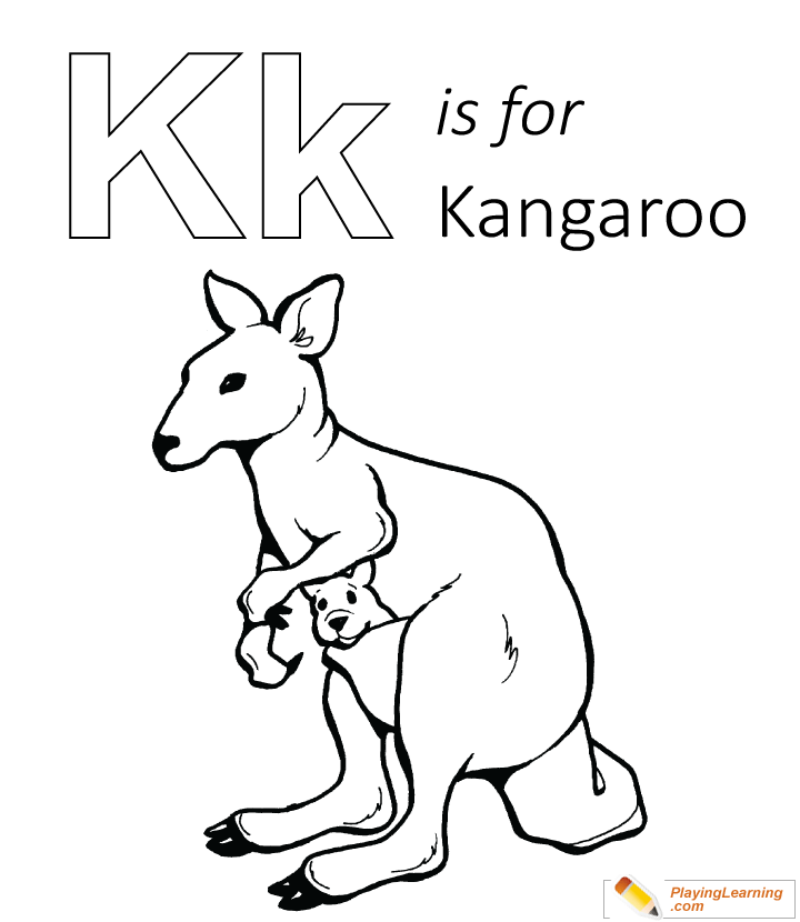 K Is For Kangaroo Coloring Page Free K Is For Kangaroo Coloring Page