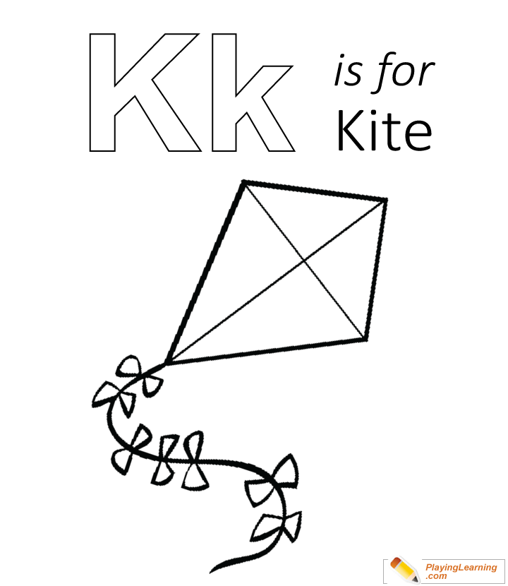 K Is For Kite Coloring Page Free K Is For Kite Coloring Page