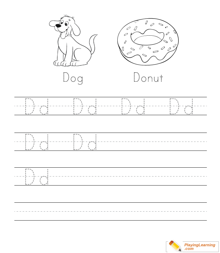 A-Z Uppercase Lowercase Letter Tracing Worksheets Playing Learning