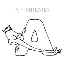 Alphabet Coloring Pages Letter A Through L Playing Learning