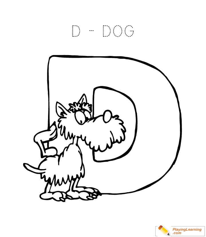 Letter D Coloring Page Free Letter D Coloring Page