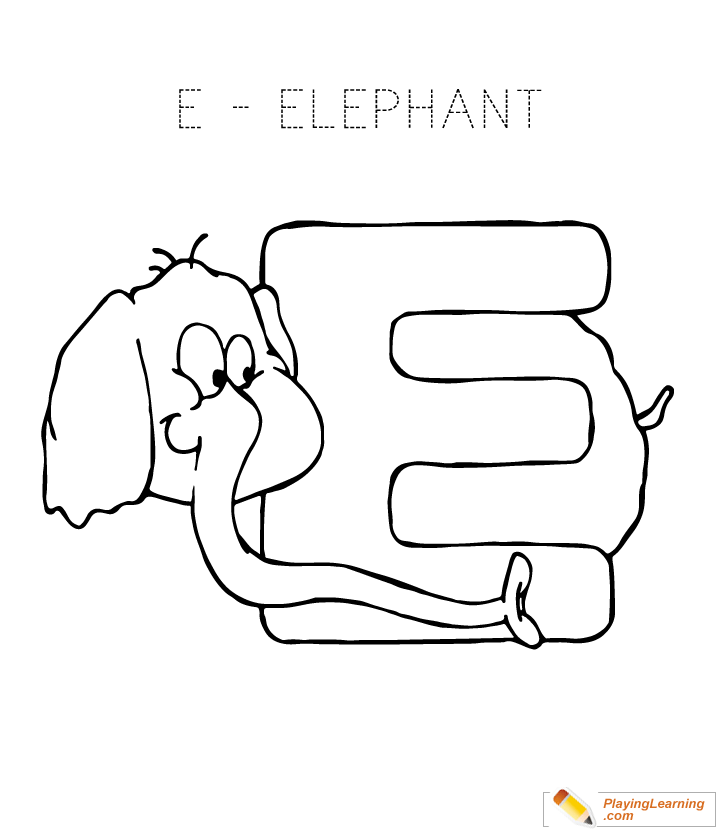 Letter E Coloring Page Free Letter E Coloring Page