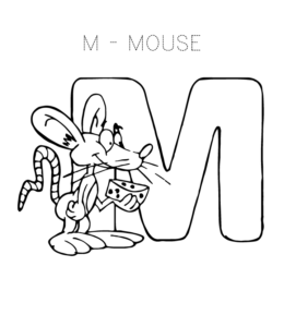 Alphabet Coloring Pages – Letter M through Z | Playing Learning
