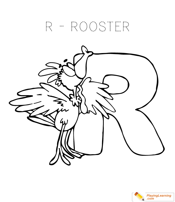 Letter R Coloring Page Free Letter R Coloring Page