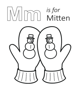 mitten coloring pages for kids - photo#27