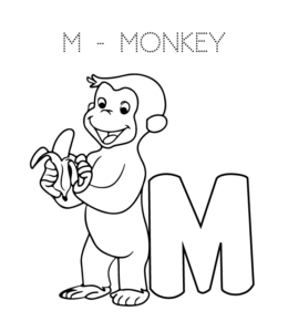 Alphabet Coloring Pages Letter M Through Z Playing Learning