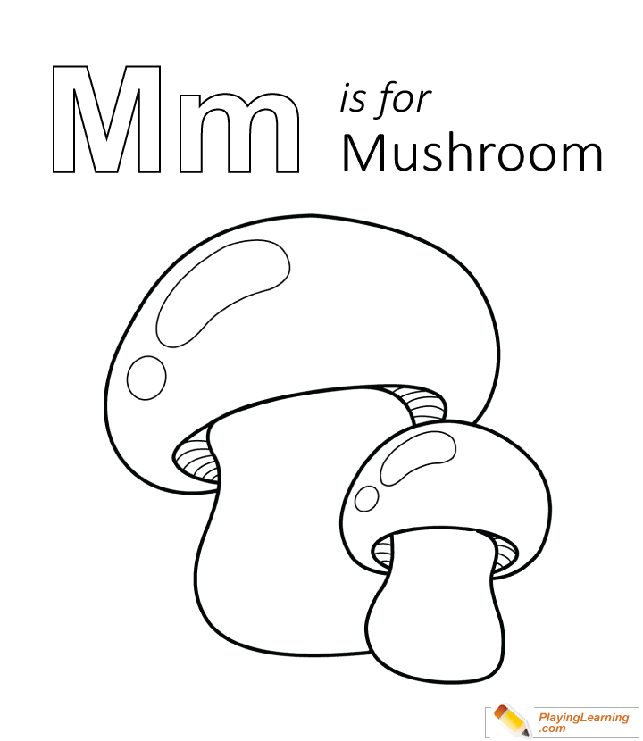 - M Is For Mushroom Coloring Page Free M Is For Mushroom Coloring Page