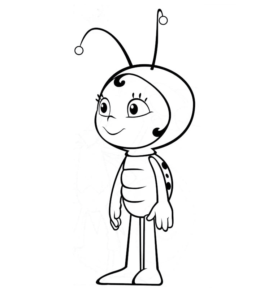Maya The Bee Movie Coloring Page For Kids