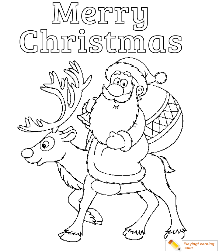 - Merry Christmas Coloring Page 10 Free Merry Christmas Coloring Page