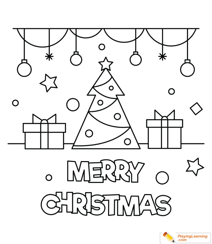 Merry Christmas Coloring Page 14 Free Merry Christmas Coloring Page