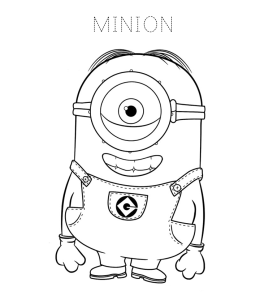 Despicable Me & Minions Coloring Pages | Playing Learning