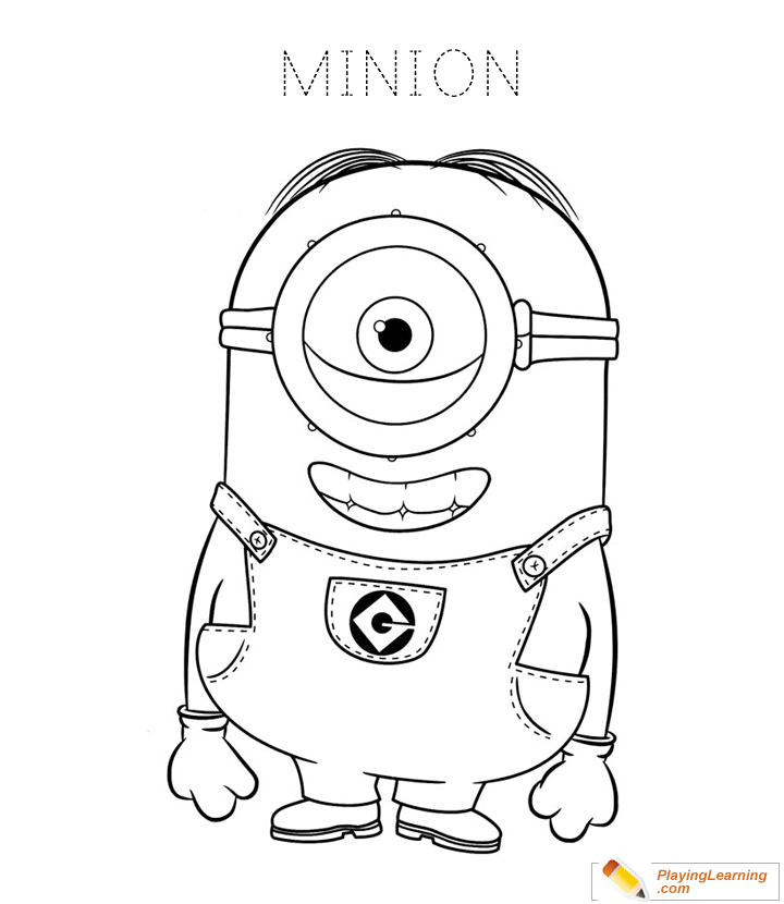 Minions Coloring Page 02 Free Minions Coloring Page