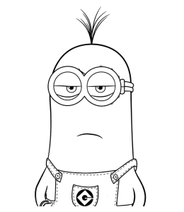 Minions Coloring Page 4 For Kids
