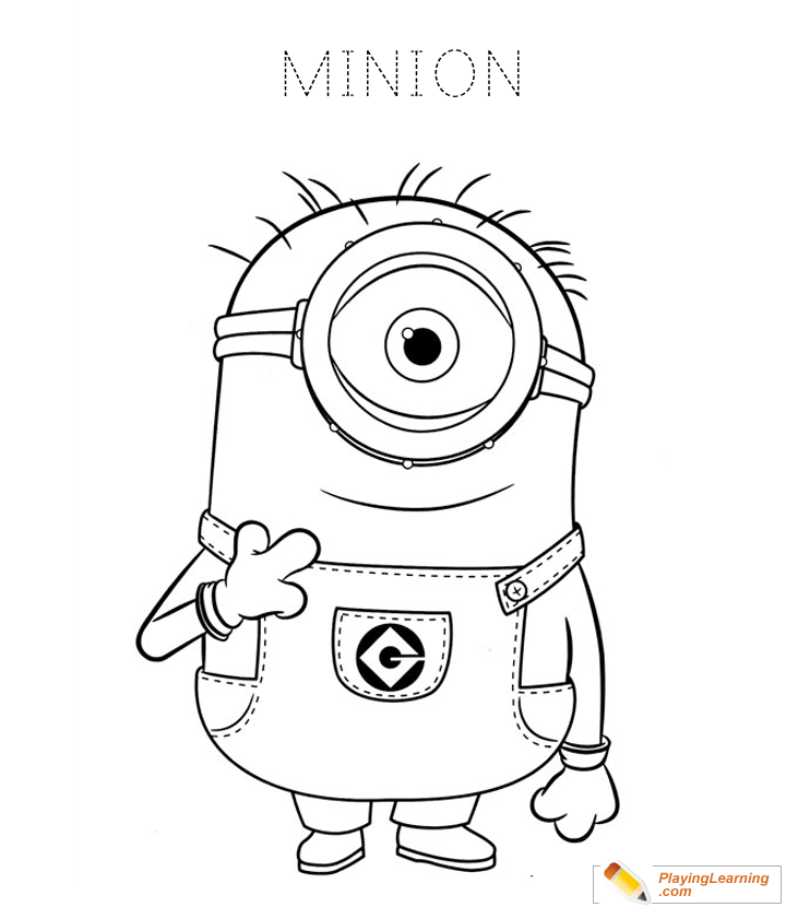 - Minions Coloring Page 05 Free Minions Coloring Page