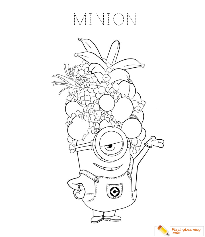 - Minions Coloring Page 06 Free Minions Coloring Page