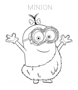 Minions Coloring Page 8 For Kids