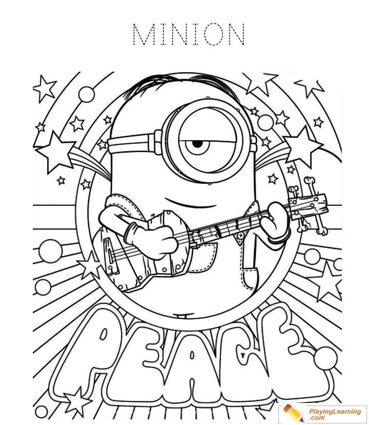 Minions Coloring Page 13   Free Minions Coloring Page