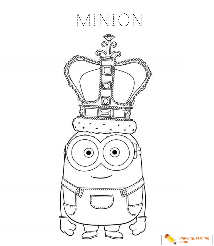 Minions Coloring Page 17 | Free Minions Coloring Page