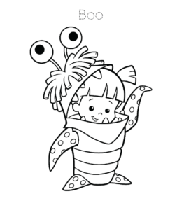 Monsters Inc Coloring Pages Playing Learning