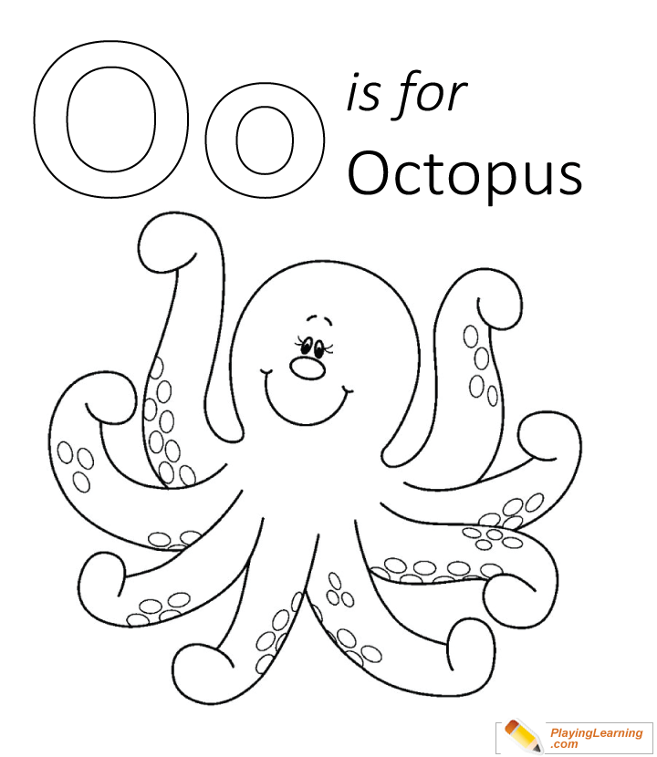 O Is For Octopus Coloring Page Free O Is For Octopus Coloring Page