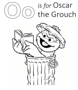 Sesame Street Character Names Coloring Pages Playing Learning