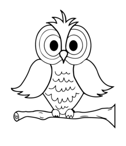 Owl Coloring Pages | Playing Learning