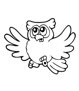 Owl Coloring Page 20 For Kids