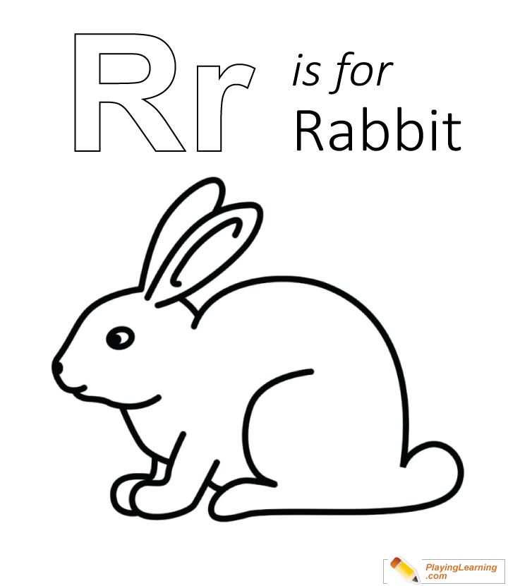 R Is For Rabbit Coloring Page | Free R Is For Rabbit ...