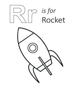 letter r is for rocket coloring page free printable letter m through z uppercase amp lowercase coloring 391