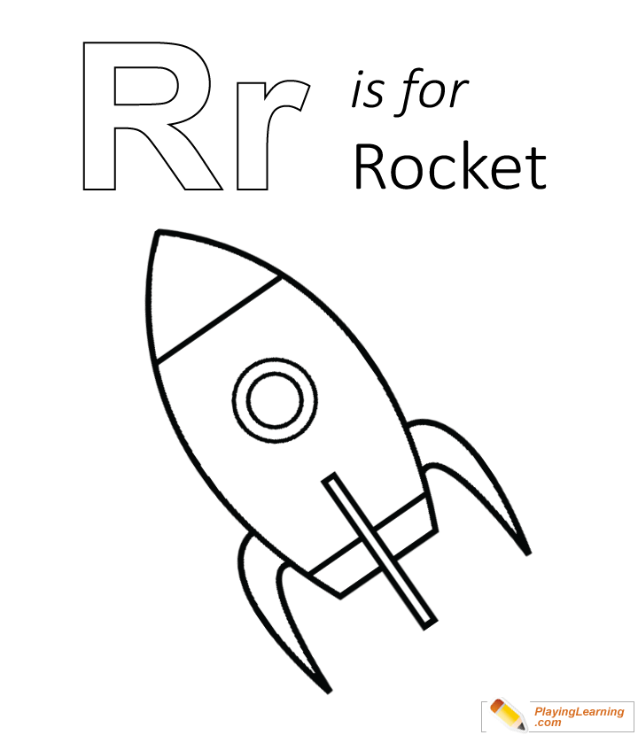 R Is For Rocket Coloring Page | Free R Is For Rocket Coloring Page