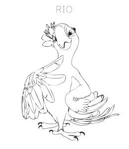 Rio (The Movie) Coloring Pages | Playing Learning