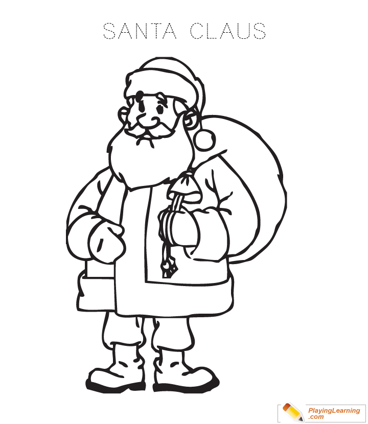 Santa Claus Coloring Page 05 Free Santa Claus Coloring Page