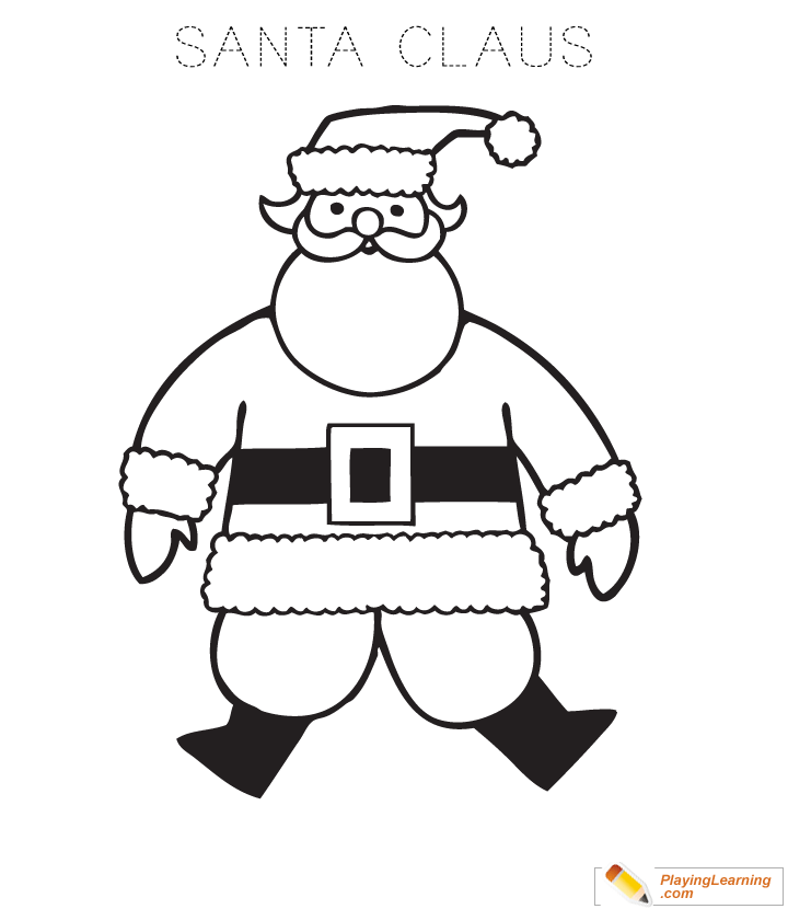 santa claus coloring page for kids