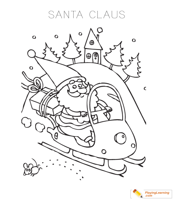 Free Santa Sleigh Coloring Pages, Download Free Clip Art, Free ... | 830x720