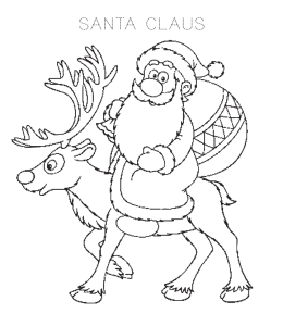 santa claus coloring pages  playing learning