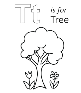 T Is For Tree Printable Kids