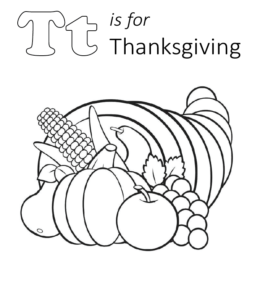 30+ Thanksgiving Coloring Pages - Free Printables | 300x260