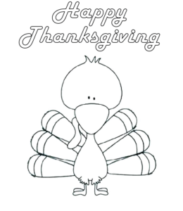 Funny Turkey Coloring Page - Coloring Home | 300x260