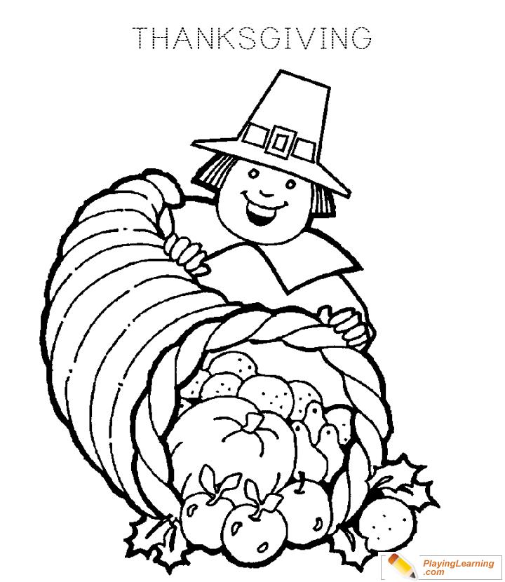 Thanksgiving Pilgrim Coloring Page 03 Free Thanksgiving Pilgrim Coloring Page