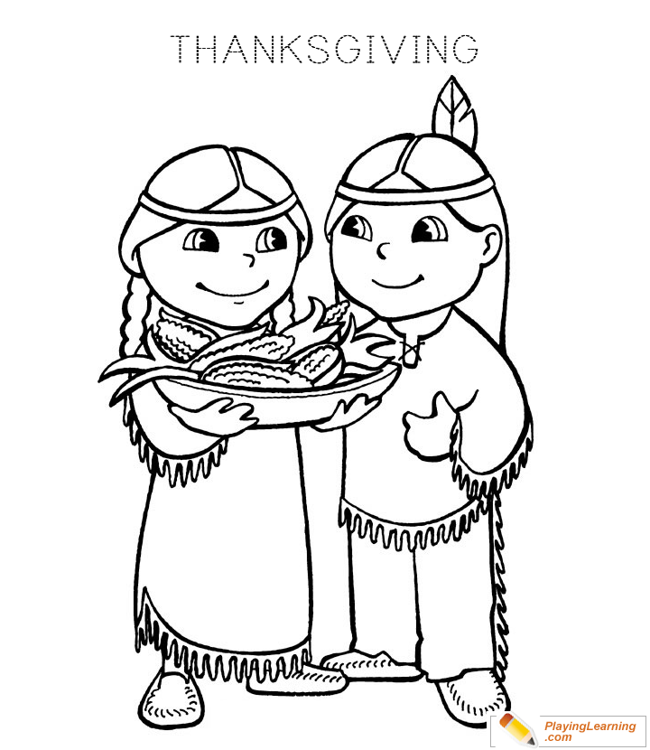 Thanksgiving Pilgrim Coloring Page 04 | Free Thanksgiving ...