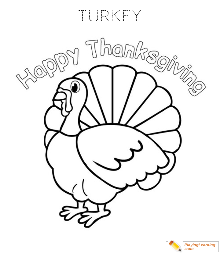 Thanksgiving Turkey Coloring Page 06 Free Thanksgiving Turkey Coloring  Page