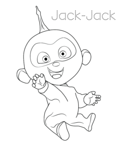 The Incredibles Jack Coloring Page 03 For Kids