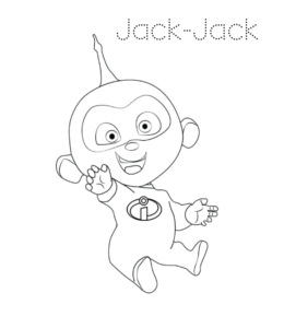 The Incredibles Coloring Pages | 300x260