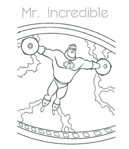 Sy Mr Incredible Coloring Pages Incredibles For Children
