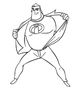 The Incredibles Coloring Pages Playing Learning