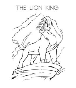 Free Lion King Coloring Pages