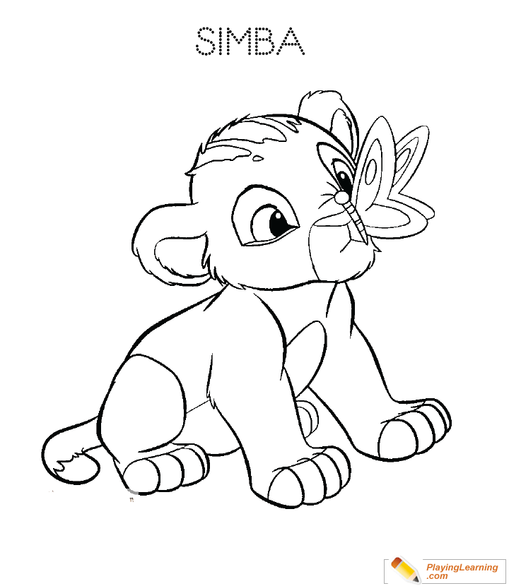 The Lion King Lion Cub Coloring Page 03 Free The Lion King Lion Cub Coloring Page